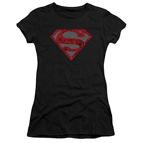 Elephant Jeune Black Superman Femme Rose shirt T Shield Pour 7SSqAa1O