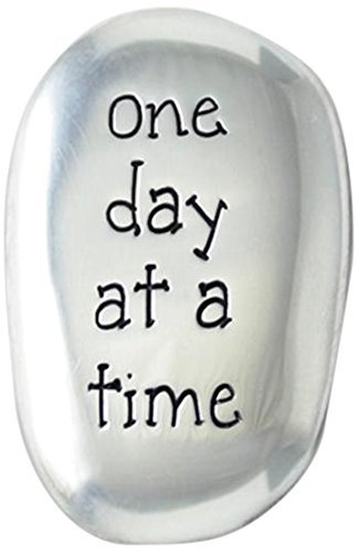 Thumb STONES - ONE DAY AT A TIME - INSPIRATIONAL Gift - Soothing Worry Stone/FRIEND Family -AFFIRMATION - AA