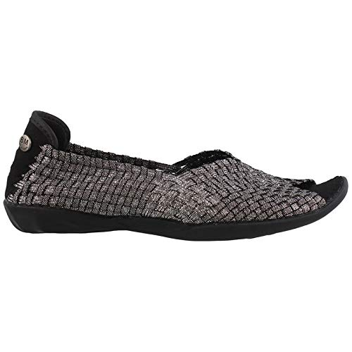 Bernie Mev Dream Black Shimmer Womens Slip-On Size ()
