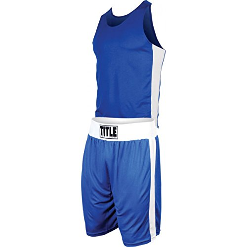 Title Boxing Aerovent Elite Amateur Boxing Set (Original), Blue/White, Small