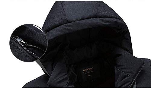 PIN Hommes 'S veste coton épaissir, hiver imperméable à l'eau chaude et coupe-vent mode occasionnel court paragraphe à capuche (XL-4Xl),Noir,L