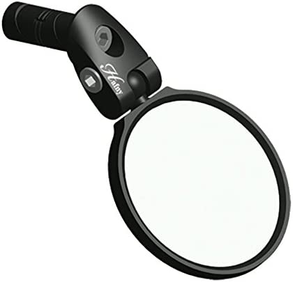 Hafny Bar End Bike Mirror, Stainless Steel Lens