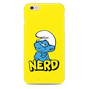 Loud Universe Smurf Nerd Cute iPhone 6 Plus Case Yellow Minimal Smurf iPhone 6 Plus Cover with 3d Wrap around Edges