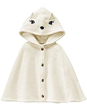 Toddler Girl's Ivory Fox Cape
