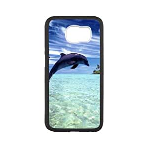 Dolphin Samsung Galaxy S6 Cell Phone Case White JNC74846