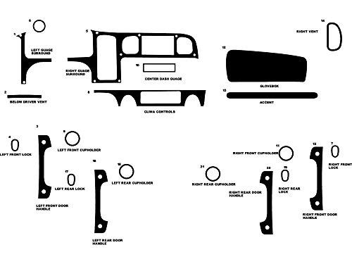 Rdash Dash Kit Decal Trim for Freightliner M2 2002-2006 - Aluminum (Brushed Silver)