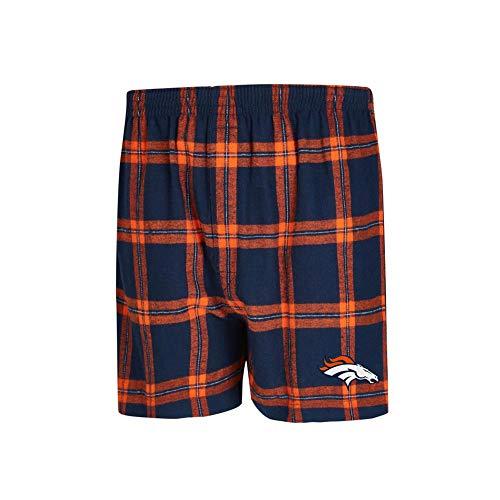 Concepts Sport Denver Broncos Men's Boxers Flannel Boxer Shorts (X-Large) ()