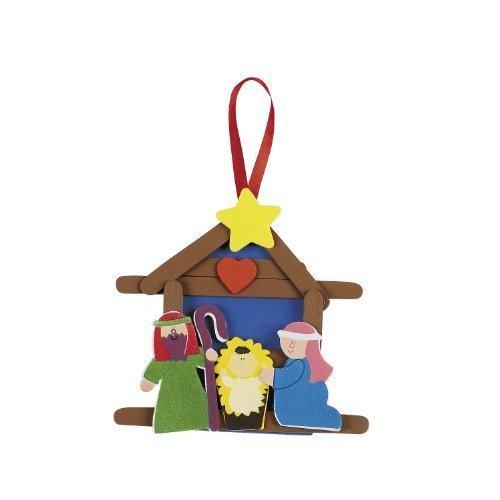 - Nativity Craft Stick Ornament Craft Kit (Makes 12)