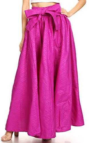 Longue Sangle Sakkas Violet Robe Asma Réglable Cire Traditionnelle Imprimer Jupe Convertible TgTX8C