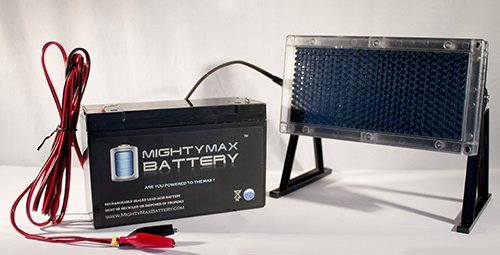 6 VOLT 12 AH SLA BATTERY KIT WITH SOLAR PANEL CHARGER - Mighty Max Battery brand product by Mighty Max Battery