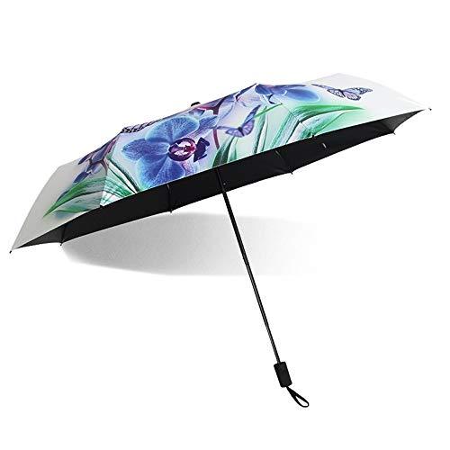- Z.L.FFLZ Umbrellas Outdoor Sun Umbrella for Women UV Protection Parasol Unbreakable Indestructible Lightweight Gumshoe Handle Durable (Color : 03Flower)