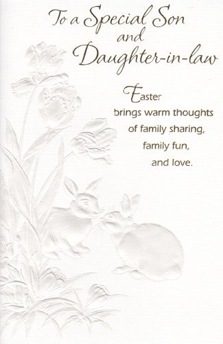 Easter Card QuotTo A Special Son And Daughter In Lawquot