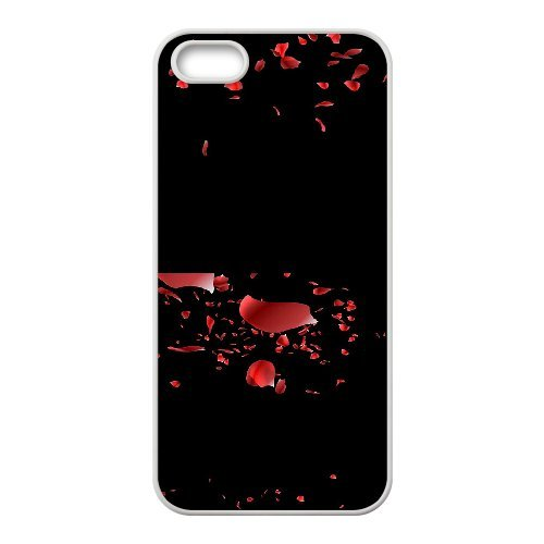 SYYCH Phone case Of Beautiful Petals Falling Cover Case For iPhone 5,5S