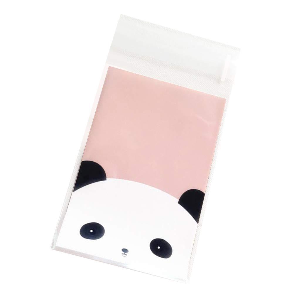 UPKOCH Sacchetti di Caramelle di cellophane per Caramelle al Sacchetto di Biscotti Adesivi Panda Panda da 100 Pezzi