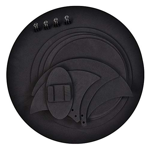 Drum Mutes, 10pcs Mute Silencer Drumming Practice Pad Bass Drums Quiet Sound off ()
