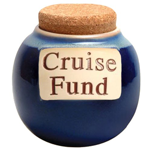 Fund Jar (Cruise Fund Money Jar; Cruise Fund Bank; Coin Jar With Lid; Vacation Gift By Tumbleweed)