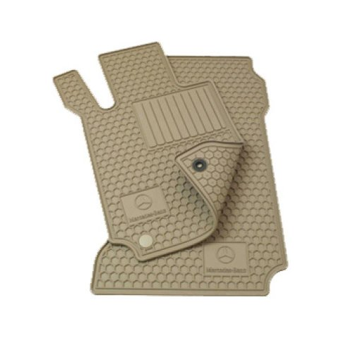 Mercedes Benz C-Class Beige All Weather Rubber Floor Mat Sets