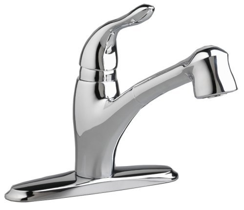 American Standard 4114.100.002 Lakeland Single-Control Kitchen Faucet with Pull Out Spray Spout, Polished Chrome - Lakeland Kitchen Faucet