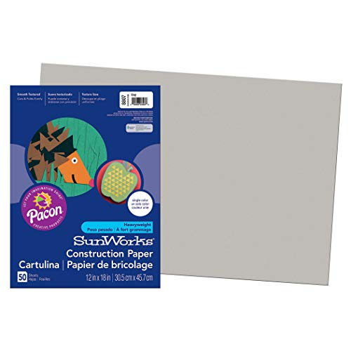 SunWorks PAC8807BN Construction Paper, Gray, 12