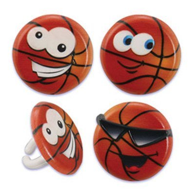 Basketball Characters Cupcake Rings Supplies product image