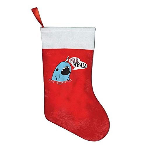 coconice Narwhal Coolest Animal Christmas Holiday Stockings by coconice
