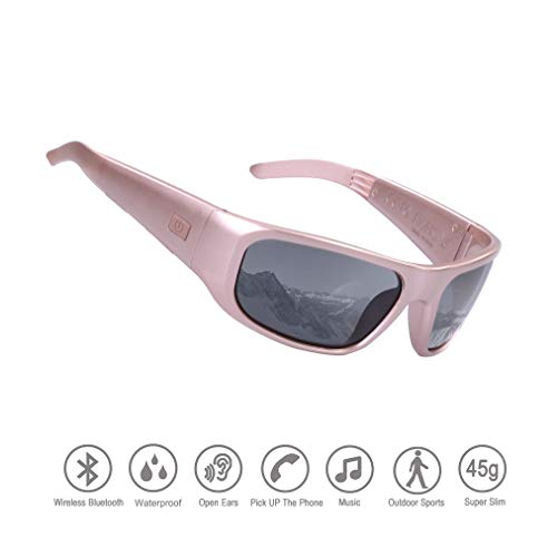 Waterproof Bluetooth Sunglasses,Open Ear Wireless Sunglasses with Polarized UV400 Protection Safety Lenses,Unisex Design Headset for All Smart Phones …