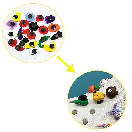 AXEN 320PCS Black Buckle Plastic Button, 3 Sizes Premium Buttons for Shoes Charm and Shoes DIY (10mm/12mm/13mm)