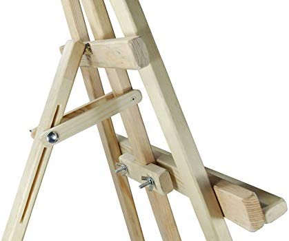 AZZAP Staffelei Holz 140cm KINDERSTAFFELEI Akademiestaffelei STANDSTAFFELEI Studiostaffelei Dreifuss Feldstaffelei