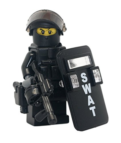 SWAT Police Riot Control Officer - Modern Brick Warfare Custom Minifigure