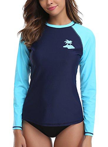 Taylover Women's Swim Shirts Long Sleeve Rash Guard Swim Shirts Athletic Swim...