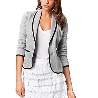 Amazon.com: Chaqueta de mujer con abrigo de manga larga para ...