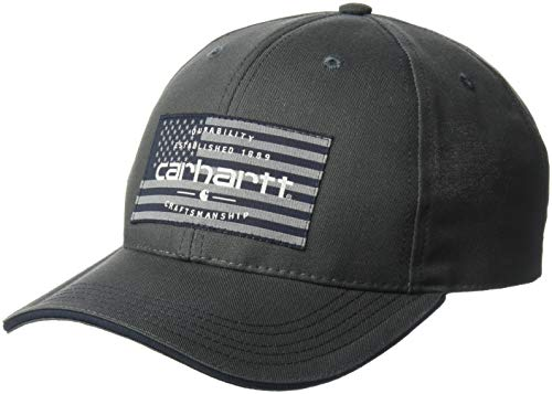 (Carhartt Men's American Flag Cap, Shadow, OFA)
