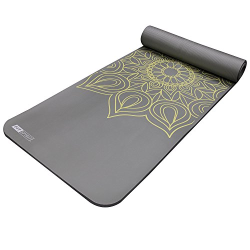 Fit Spirit Extra Thick Yoga Mat Henna Gray 189 Inch Buy