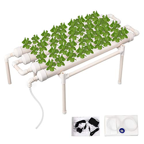 - Giraffe-X Hydroponic Grow Kit 36 Plant Sites 4 Pipes 1 Layer Hydroponic Planting Equipment Ebb and Flow Deep Water Culture Balcony Garden System Vegetable Tool Grow Kit