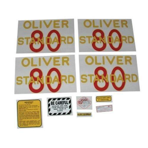 Tractor Decal Set, Oliver 80 Standard, Mylar