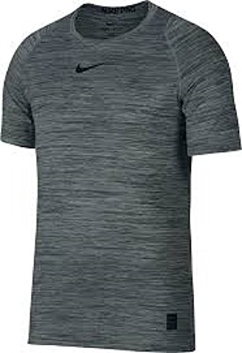 Nike Men's Pro Heather Printed Fitted T-Shirt (Vintage Green/White, S) (Cloud T-shirt Green)