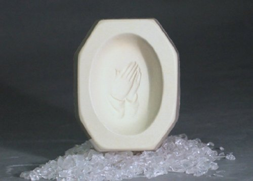 - Praying Hands Cameo Cabochon Casting Jewelry Mold for Fusing Glass Frit