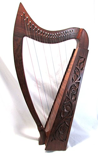 34 Inch Tall 21 String Harp Extra Strings free Tuning Key and Carrying case by Sturgis