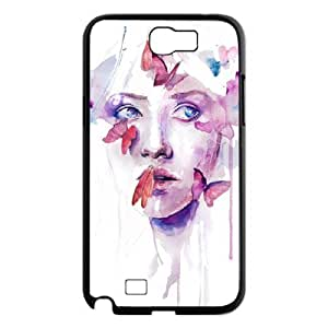 DIY Phone Case for Samsung Galaxy Note 2 N7100, Art Design Of Girl Cover Case - HL-R673963