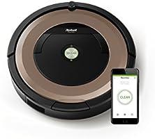 iRobot Roomba 895 - Robot aspirador, sistema de limpieza potente con sensores de suciedad Dirt Detect, aspira alfombras y suelos duros, atrapa el pelo de mascotas, conectividad WiFi, color champán