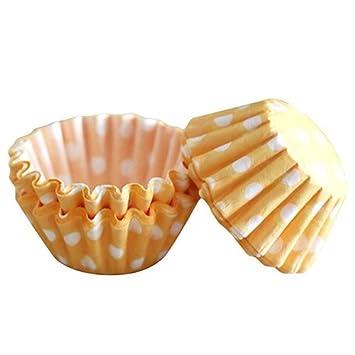 Mini moldes para cupcakes lunares de papel para tazas Cute Cake Caso: Amazon.es: Hogar