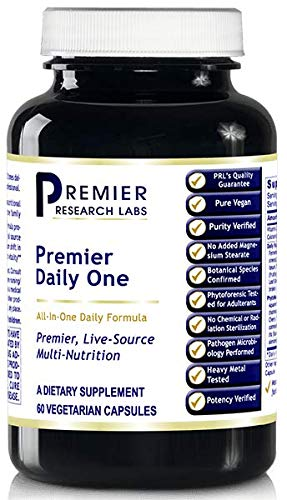 Premier Daily One, 60 Capsules, Vegan Product - All-in-One Daily Formula for Premier, Live-Source Daily Multi-Nutrition for The Whole Family