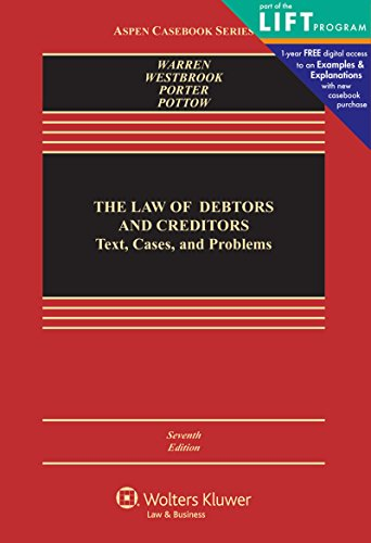 The Law of Debtors and Creditors: Text, Cases, and Problems (Aspen Casebook) cover