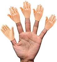 Daily Portable Tiny Hands (High Five) 10 Pack- Flat Hand Style Mini Hand Puppet - Right Hands Only