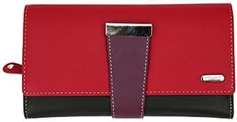 RFID Genuine Leather Ladies Soft Wallet Large Capacity Purse Womens Multi 24 Card Slot
