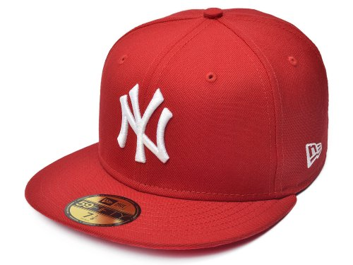 MLB New York Yankees Scarlet with White 59FIFTY - Caps New Era Mlb