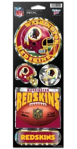 NFL Washington Redskins Prismatic Stickers, Team Color, One Size Redskin Decal