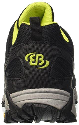 Bruetting Expedition, Zapatos de Low Rise Senderismo Unisex Adulto Negro (Schwarz/lemon/blau)
