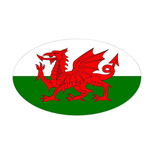 (CafePress Welsh Dragon Oval Sticker Oval Bumper Sticker, Euro Oval Car Decal)