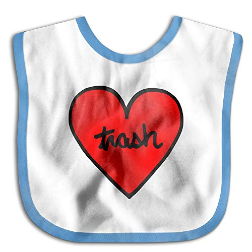 Price comparison product image I Love Trash Heart Baby Girl Drool Bibs - Soft And Hypoallergenic